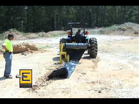 Wire Reinforced Silt Fencing System 187 Enfencer Youtube