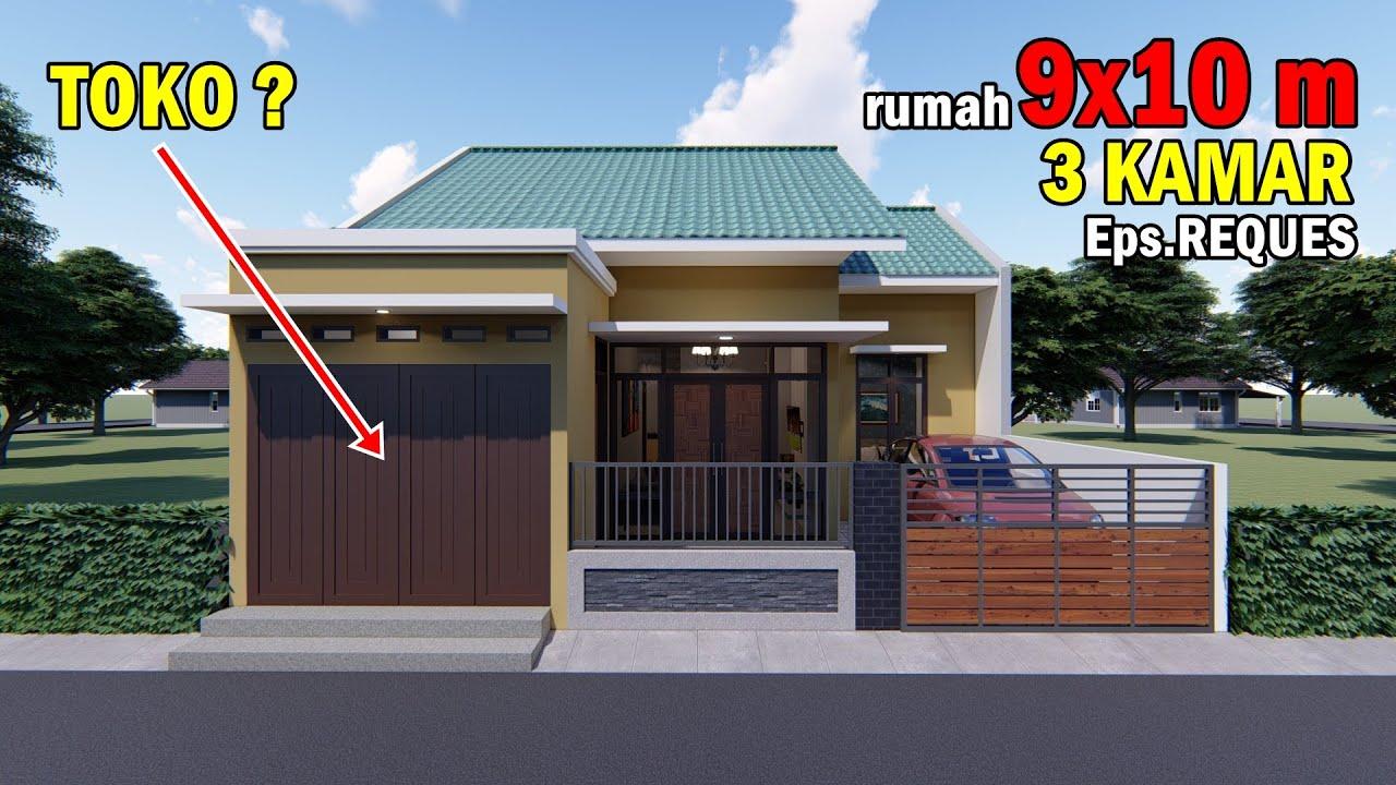 Desain Rumah 9x10 M Ada Tokonya Youtube