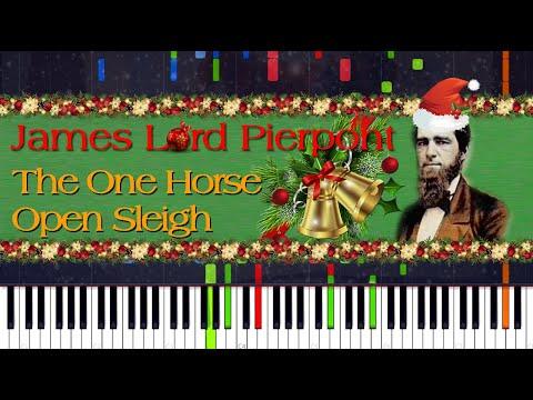 James Lord Pierpont - One Horse Open Sleigh (Jingle Bells) Original 1857 Version