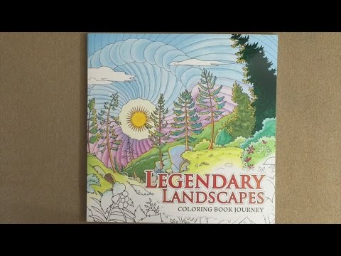 Legendary Landscapes Coloring Book Journey Flip Through