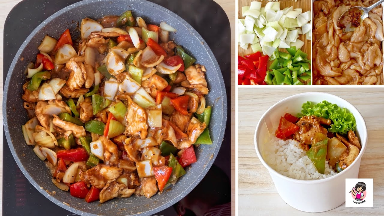 DIJAMIN NAGIH!! Masakan Rumahan Enak ala Resto❤️ Ide Jualan Rice Bowl! Black Pepper Chicken