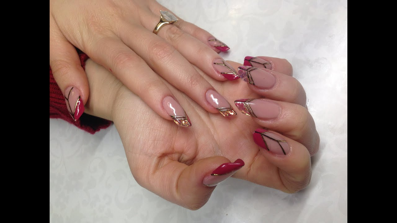 Edge Shaped Nails: How To Create UV Gel Nail Extensions Like a Nail ...