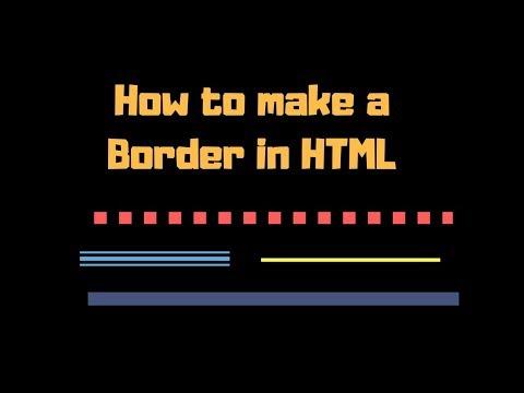 Cara Membuat Border Di Html Notepad