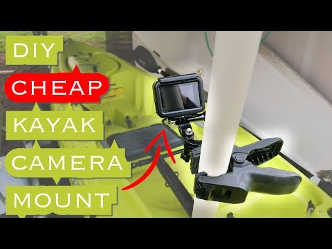 DIY: Kayak Camera Mount  // CHEAPEST And EASIEST Way // Go Pro, Hobie Outback