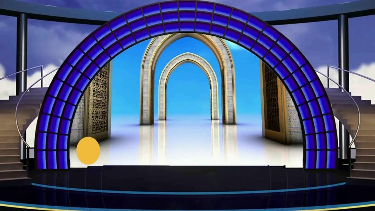 Islamic Tv Studio Background, Beautiful Islamic Background Video Free  #BSmotion - YouTube