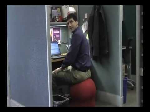 Genial Miguel Testing Out The Safco Zenergy Ball Chair   YouTube