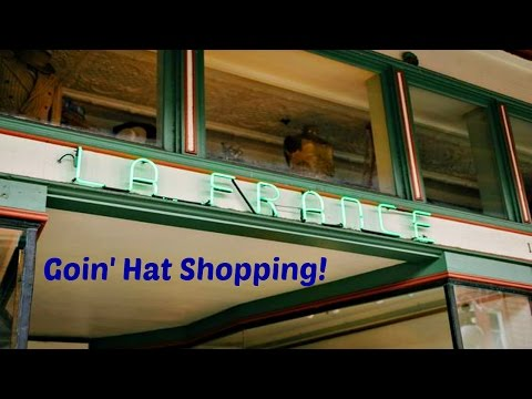Dad Finds A Hat In Ybor City, Tampa, Florida
