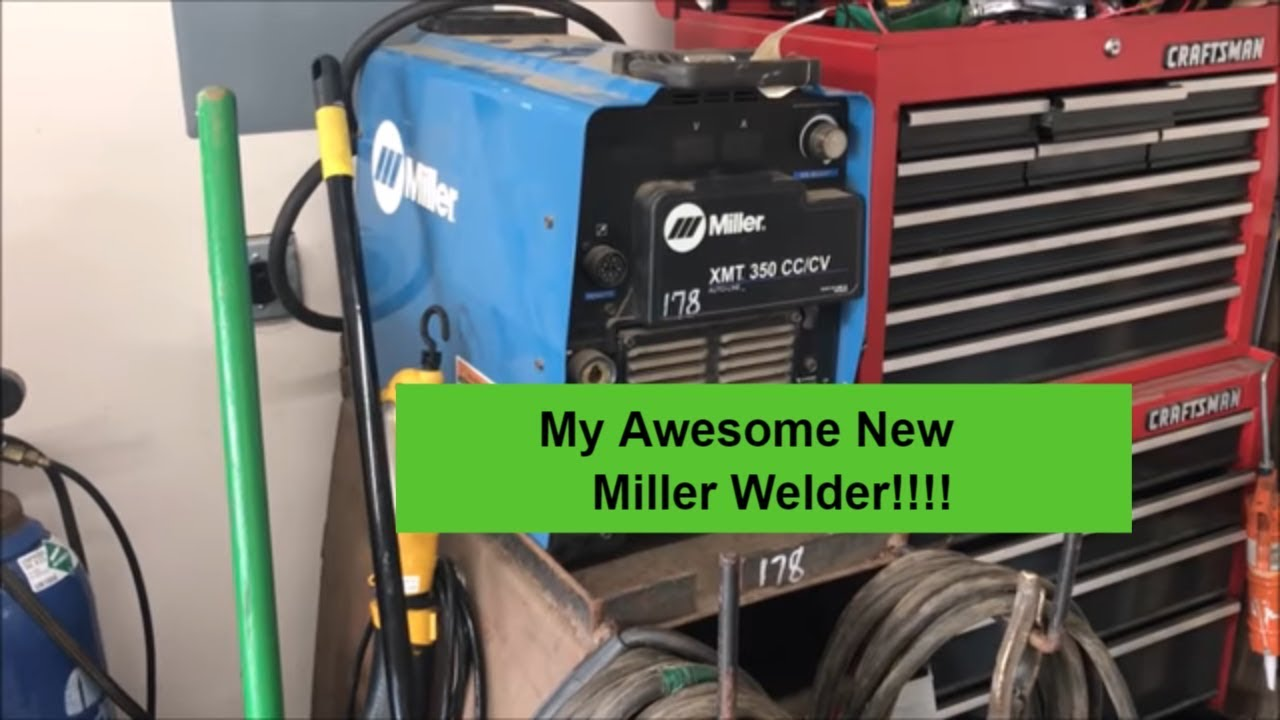 Miller Xmt 350 Cc Cv Arc Welder Purchase And 50 Amp Plug Install Youtube