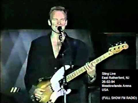"""STING - East Rutherford, NJ 26-02-94 """"Meadowlands Arena"""" USA (FULL SHOW FM RADIO)"""