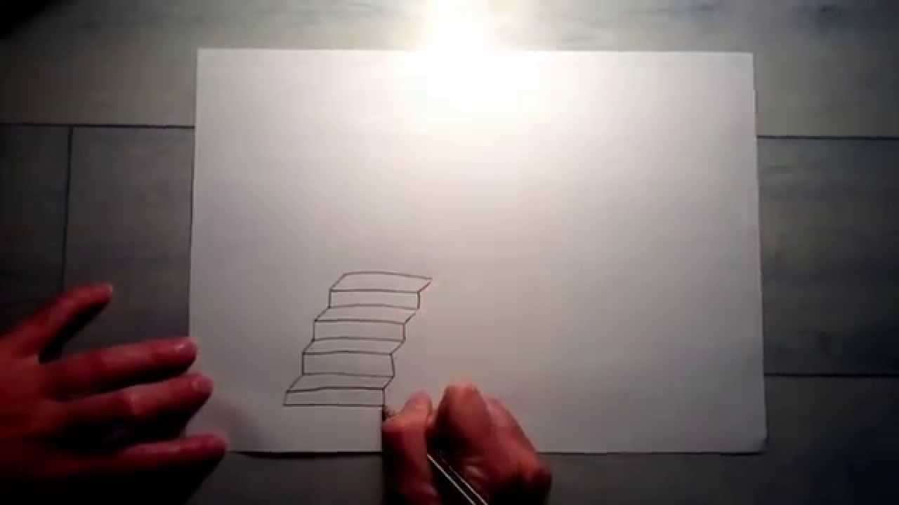 comment dessiner un escalier youtube. Black Bedroom Furniture Sets. Home Design Ideas