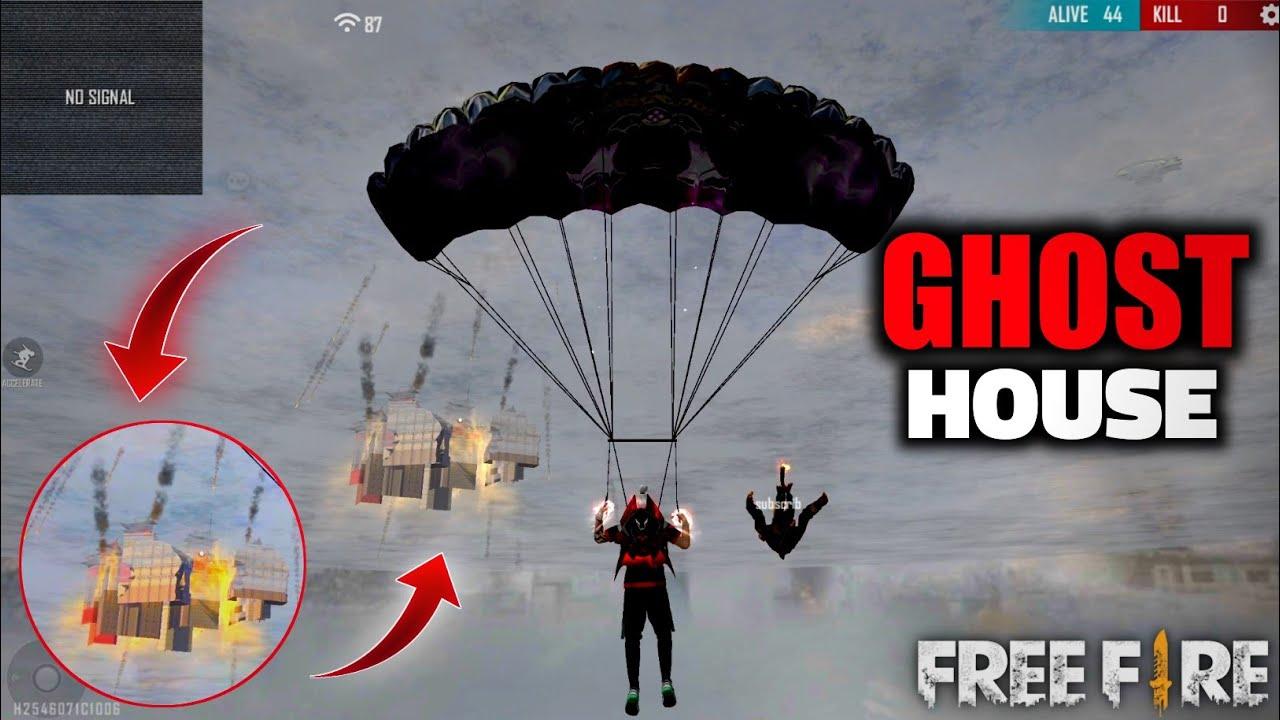REAL GHOST IN FREEFIRE 👀 -  डरपोक लोग ना देखें ⚠❌ - GARENA FREE FIRE