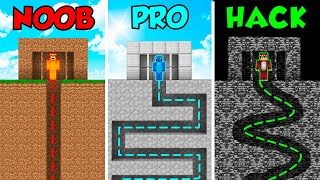 MINECRAFT NOOB VS PRO VS HACKER: ESCAPA DE LA PRISION EN MINECRAFT 😱😨 BUILD TUBERS