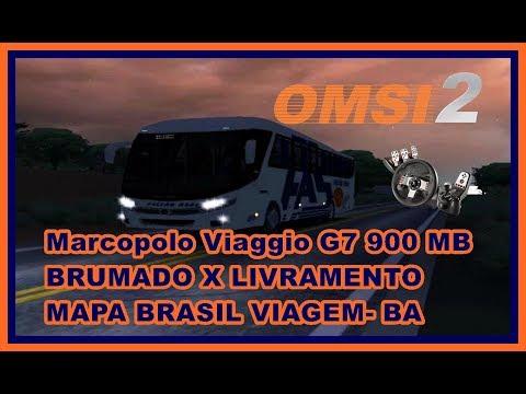 OMSI 2 -  Marcopolo Viaggio G7 900 MB -  BRUMADO X LIVRAMENTO - MAPA BRASIL VIAGEM BA