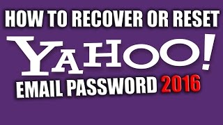 How to Recover or Reset Yahoo Email Password 2016 using Security Answers