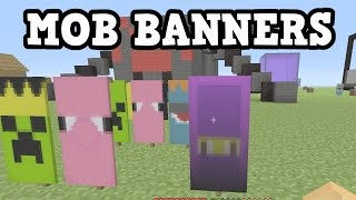 Minecraft Xbox One / PS4 5 MOB BANNERS - Banner Tutorial