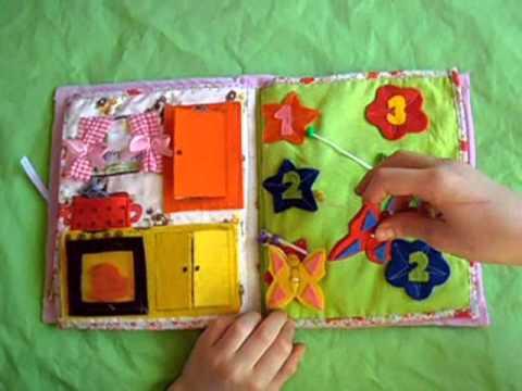 Quiet book-tiha knjiga, igračka za decu od 3-5 godina(za devojčice)