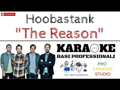 THE REASON (Hoobastank) BASE KARAOKE Professionale + CORI e TESTO Hd