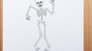 How to draw skeleton(http://www.kidsarthub.com Art lesson how to draw skeleton @ our website: http://www.kidsarthub.com/how-to-draw-skeleton/ Our animated drawing lessons ..., 2013-10-18T05:41:57.000Z)