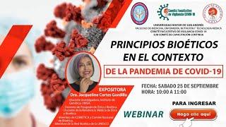 PRINCIPIOS BIOÉTICOS EN EL CONTEXTO DE LA PANDEMIA DE COVID19