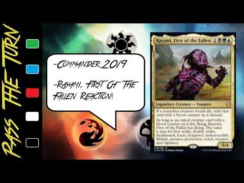 MTG: EDH: COMMANDER 2019 REACTION: RAYAMI FIRST OF THE FALLEN