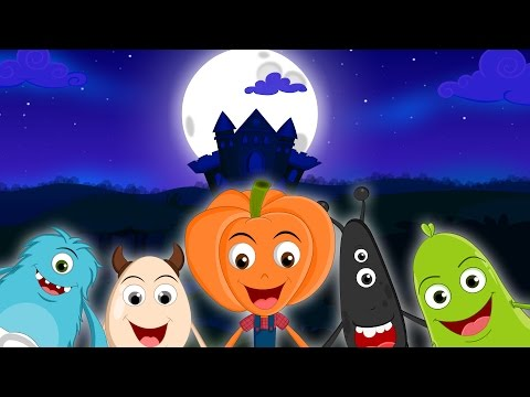 Five Little Monsters Jumping On The Bed | Halloween Songs For Kids | Kids Songs | Preschool