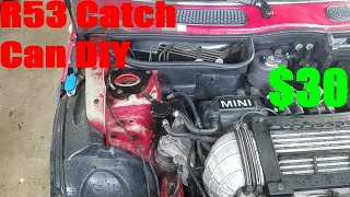 homepage tile video photo for R53 Mini Cooper S Catch Can DIY