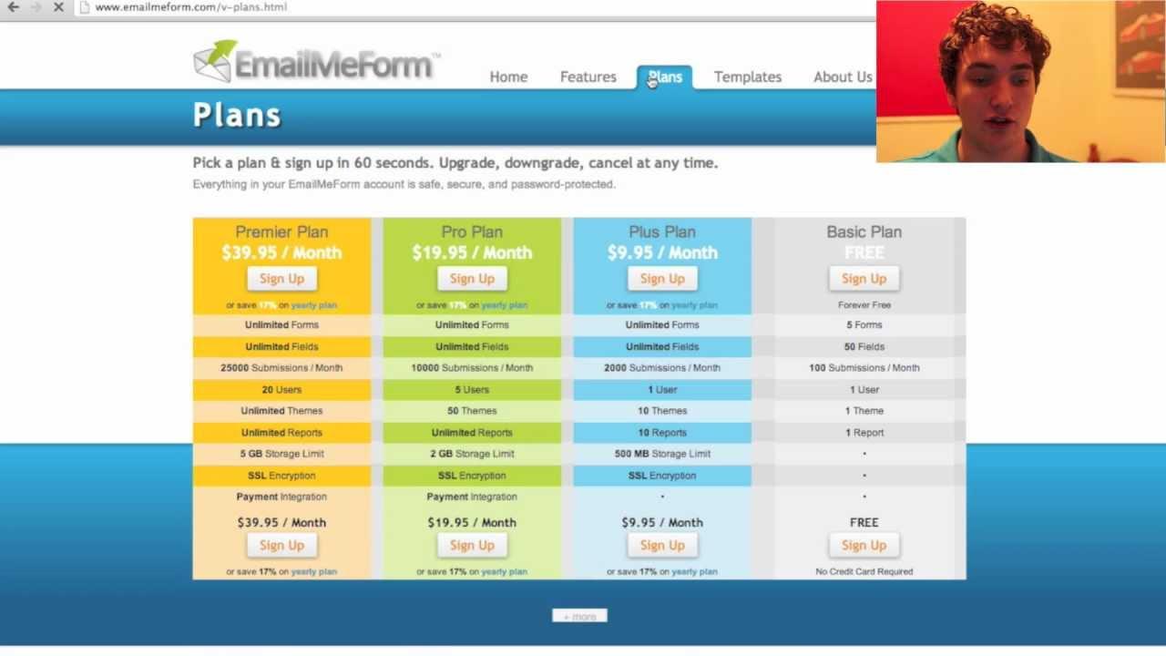 Online Form Creator - EmailMeForm.com - YouTube