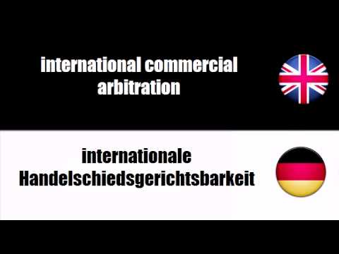 ENGLISH GERMAN   commercial arbitration