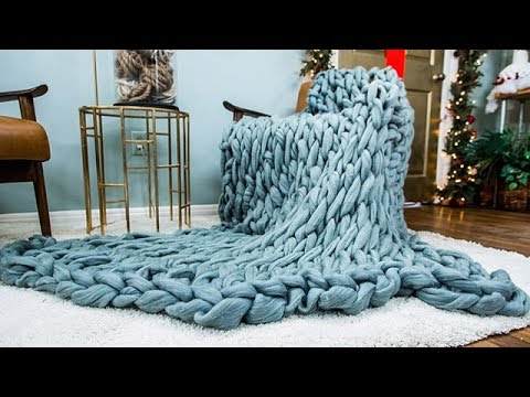 DIY Arm Knitted Throw - Home & Family