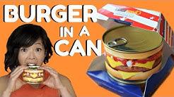 HAMBURGER in a CAN Taste Test - ready-to-eat cheeseburger & steak house burger
