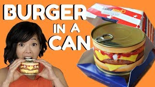 Download HAMBURGER in a CAN Taste Test - ready-to-eat cheeseburger & steak house burger Mp3 and Videos