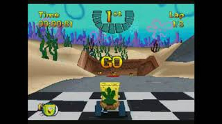 Nicktoon Racing game ps1 full part gameplay easy difficulty
