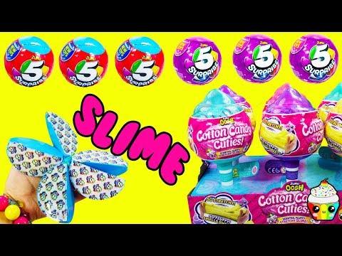 NEW Zuru 5 Surprise Boy & Girl Balls Cotton Candy Cuties Cloud Slime Squishies