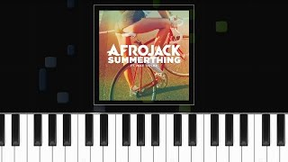 "Afrojack ""Summer Thing"" ft Mike Taylor Piano Tutorial - Chords - How To Play - Cover"