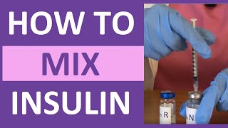 How to Mix Insulin NPH and Regular Insulin Nursing | Mixing Insulin Clear to Cloudy