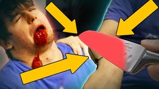 EXPERIMENT Glowing 1000 degree KNIFE VS HUMAN ARM *BLOOD WARNING*