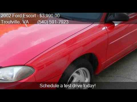 2002 Ford Escort ZX2 2dr Coupe for sale in Troutville, VA 24