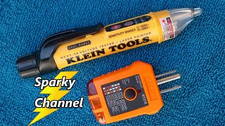 Klein Updated NCVT- 5a Dual Range Voltage Tester and Laser Pointer + RT210 Outlet Tester Review