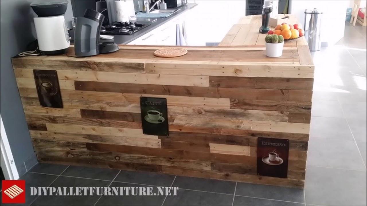 Cucina Pallet Fai Da Te cucina-l'arte di arredare con i pallet - youtube