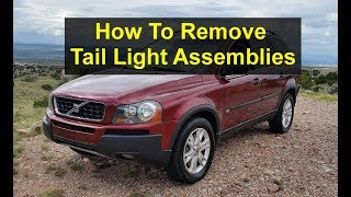 How to remove the upper and lower tail light assemblies on the P2 Volvo XC90 - VOTD