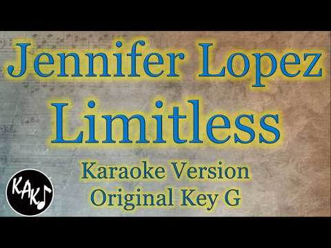 Jennifer Lopez – Limitless Second Act Karaoke Instrumental Lyrics Cover Original Key G