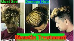 Keratin Hair treatment /On Damage hair/ Protain treatment / How to do Keratin / Curly to straight /