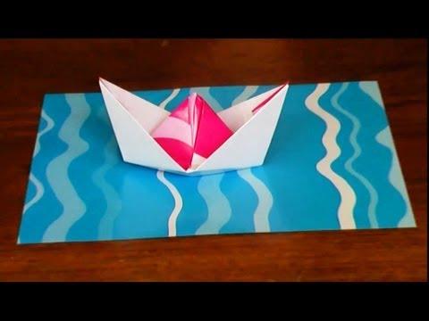 Manualidades escolares barquito de papel manualidades - Youtube manualidades de papel ...