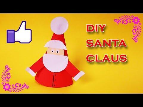 DIY Santa Claus From Paper | How to make a Christmas Santa claus at Home