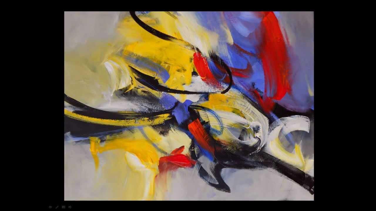 Detine artiste peintre abstrait youtube for Peintres abstraits