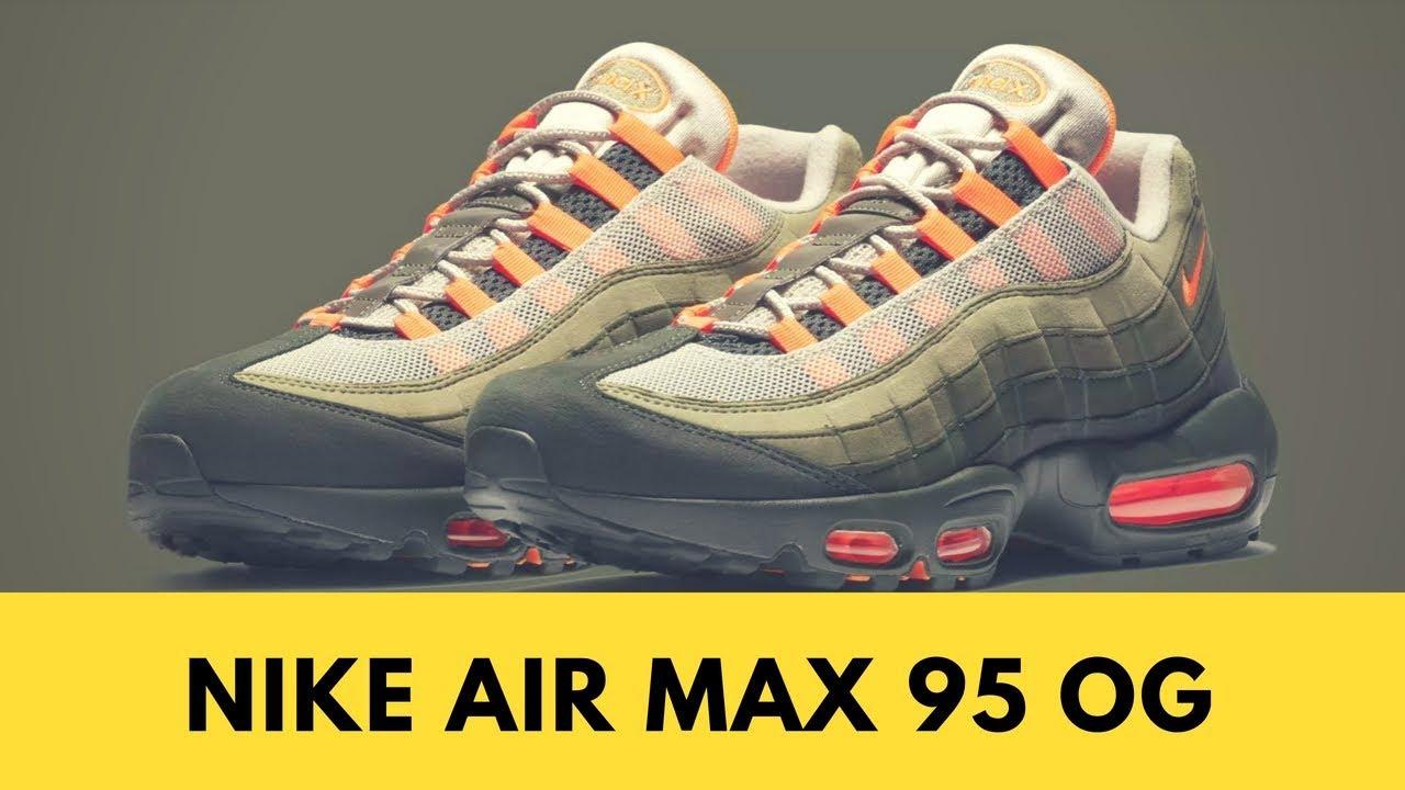 sale retailer 95526 3be99 Nike Air Max 95 OG Solar Red
