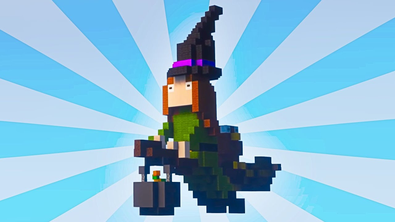 Minecraft: Witch on a Broom 🎃 #Shorts