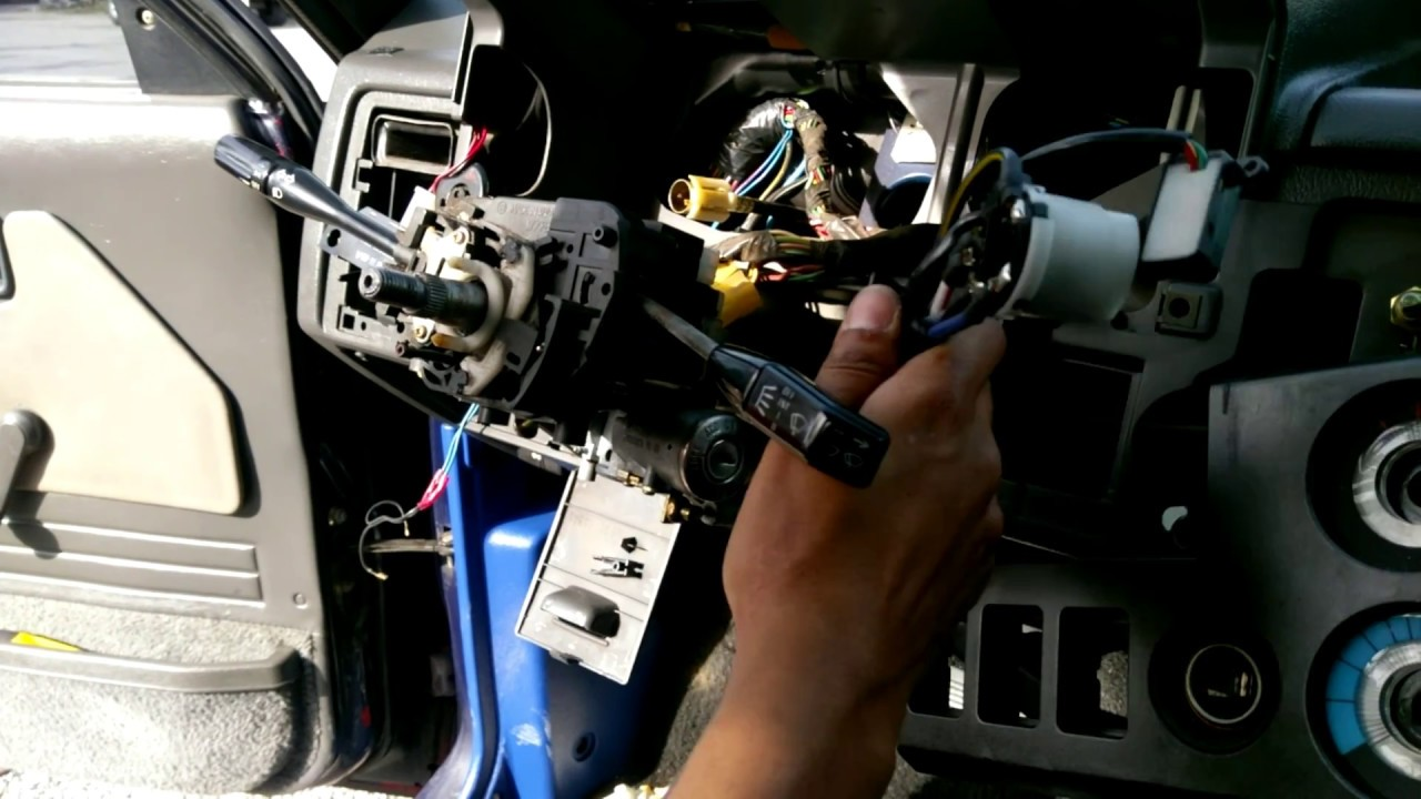 Ignition Switch Replacement On A 1990 Mazda B2200 Youtube Diagram For 1988 Engine