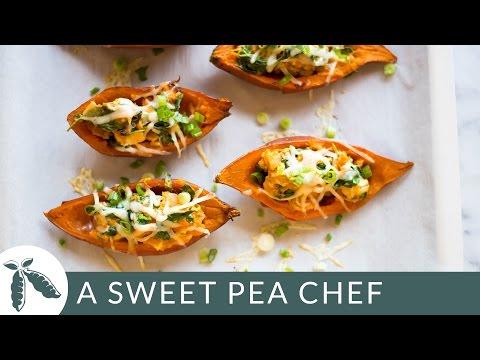 Healthy Baked Sweet Potato Skins | A Sweet Pea Chef