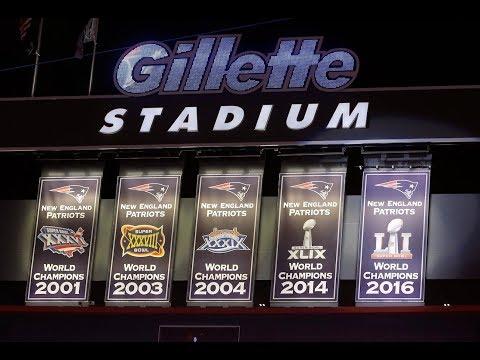 New England Patriots reveal Super Bowl LI banner at Gillette Stadium